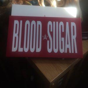 Jeffree Star Blood Sugar Palette swatched